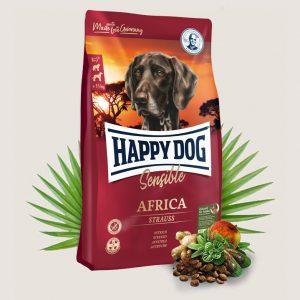 Africa 20/10 (Страус) - Беззерновой корм с одним источником белка животного происхождения. Мясо страуса является источником очень редкого белка и идеально подходит для собак