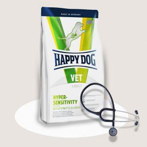 Happy Dog VET Diet Hypersensitivity 26/13 для собак с пищевой аллергией и пищевой непереносимостью